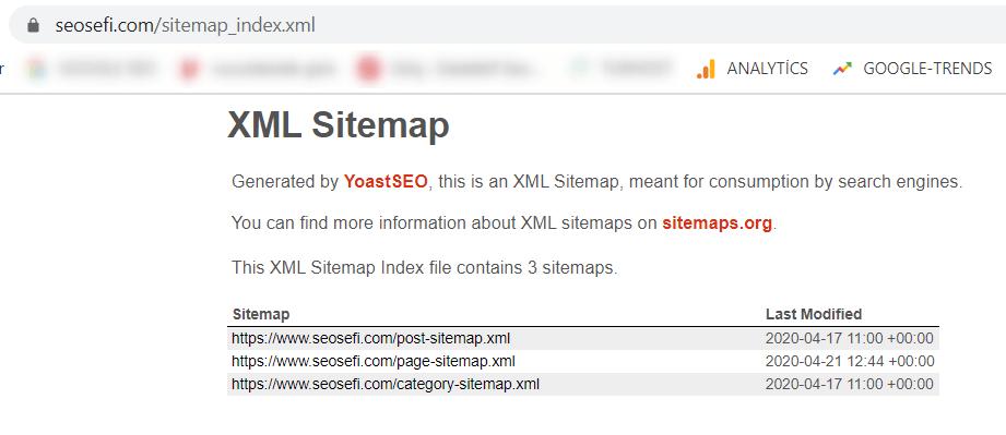 site haritası oluşturmak