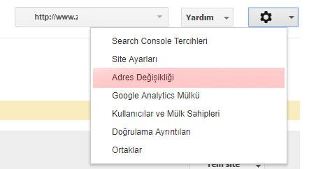 Site taşıma adres değişikliği
