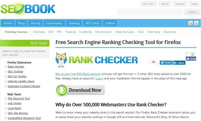 SEO Book Rank Checker