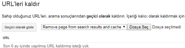 google url kaldırma