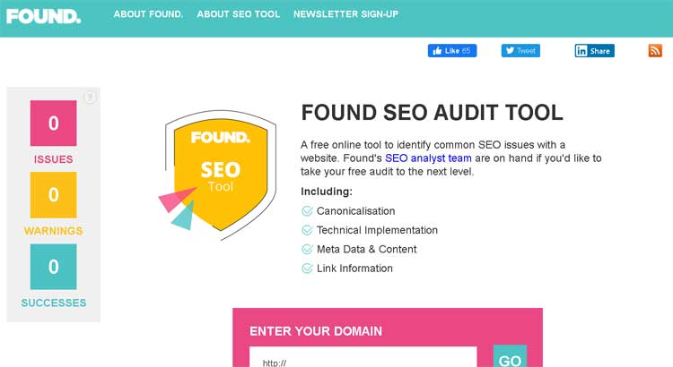 founds SEO audit tool